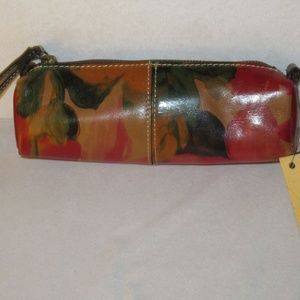 Patricia Nash Floral Isla Oblong Leather Wristlet